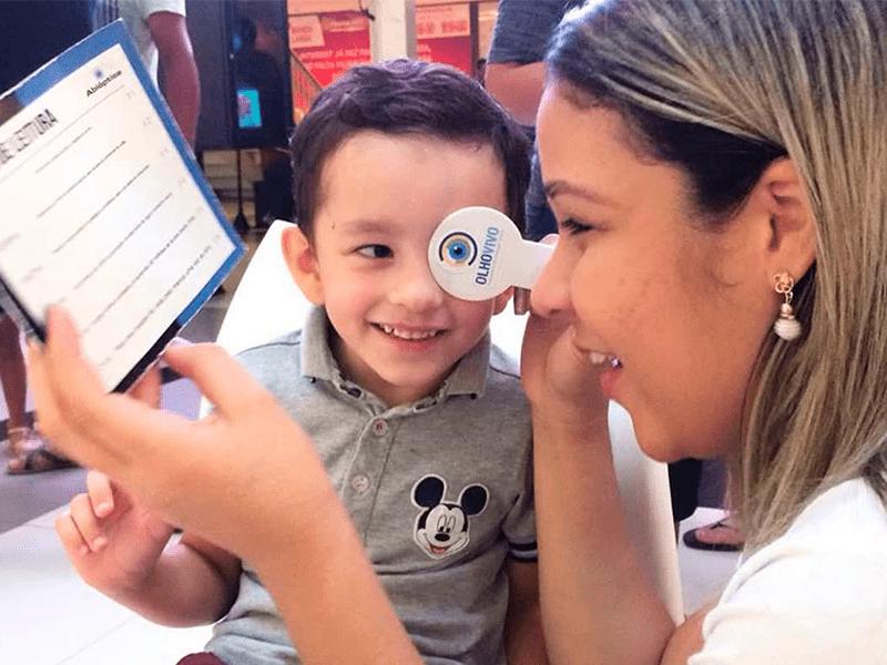 7e90ff9e6848a Missão Abióptica realiza Ação Olho Vivo no Shopping Prado Boulevard ...