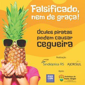 Campanha De Conscientização Contra óculos Falsificados Ganha Espaço Na Frota De ônibus De Porto Alegre.