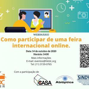 """Webinário """"como Participar De Uma Feira Internacional Virtual"""""""